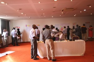 Market Place of idea - stakeholders milling around the hall during the voting