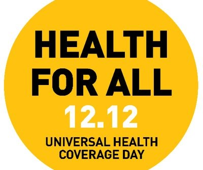 "Today is Universal Health Coverage Day. This year's theme is ""Health for All; Rise for Our Rights""."